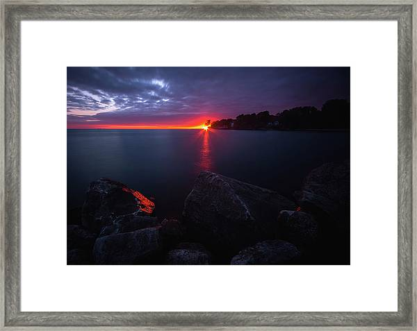 Colchester Sunset Framed Print