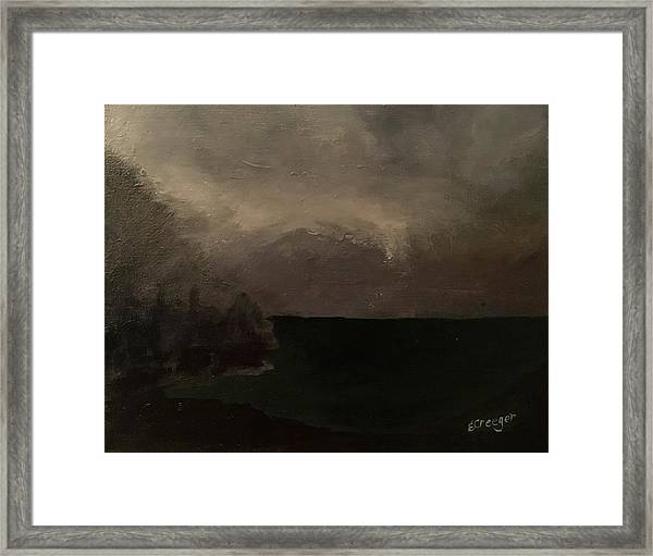 Cold Fog And Sea Framed Print