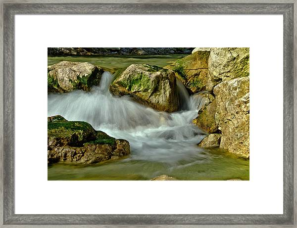 Cold Milky Creek Framed Print