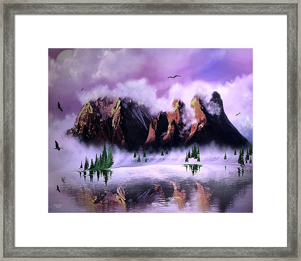 Cold Mountain Morning Framed Print