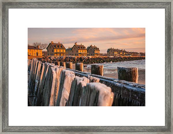 Cold Row Framed Print