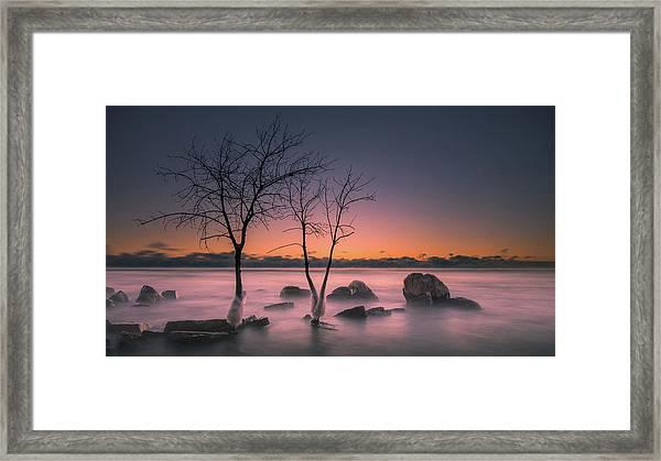 Cold Split Framed Print