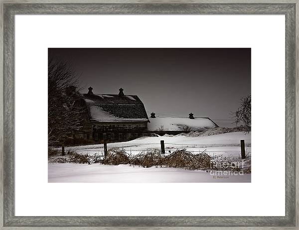 Cold Winter Night Framed Print