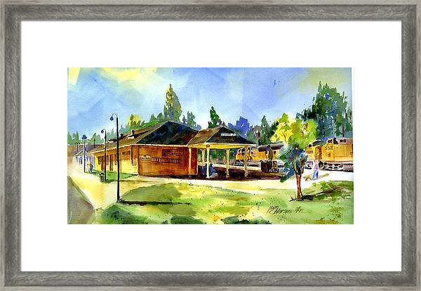 Colfax Rr Depot Framed Print