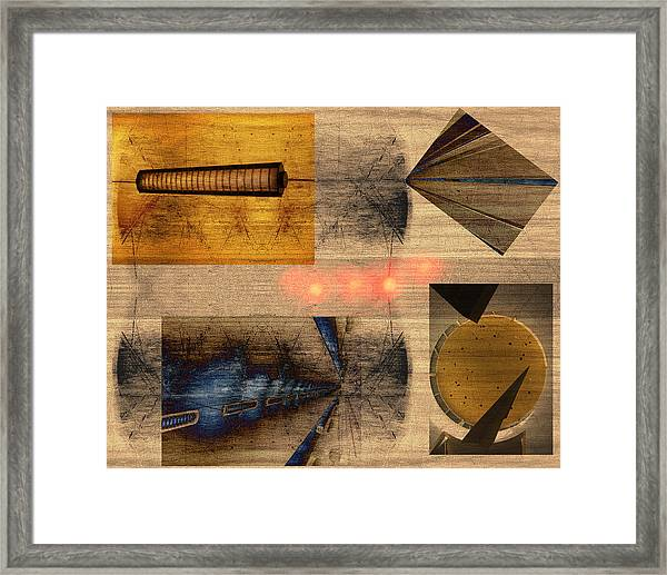 Collage - Cle Airport Framed Print