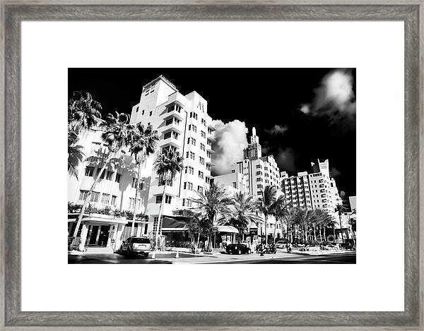 Collins Avenue South Beach Framed Print