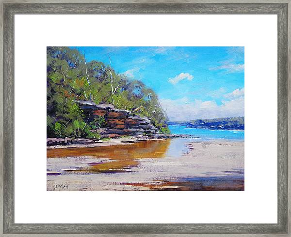 Collins Beach Manly Framed Print