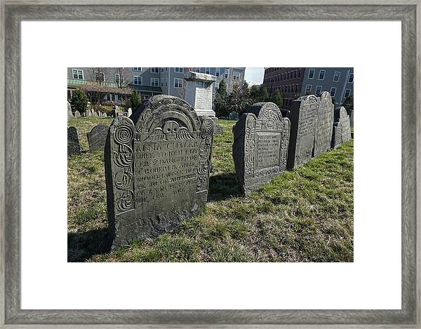 Colonial Graves At Phipps Street Framed Print