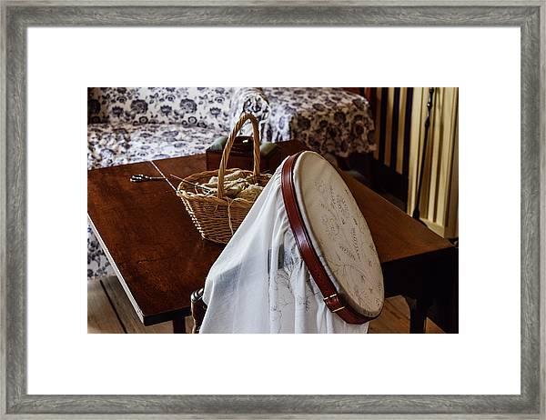 Colonial Needlework Framed Print