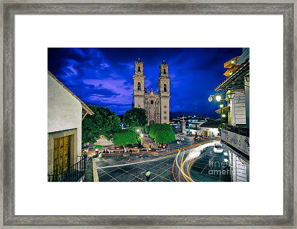 Colonial Town Of Taxco, Mexico Framed Print