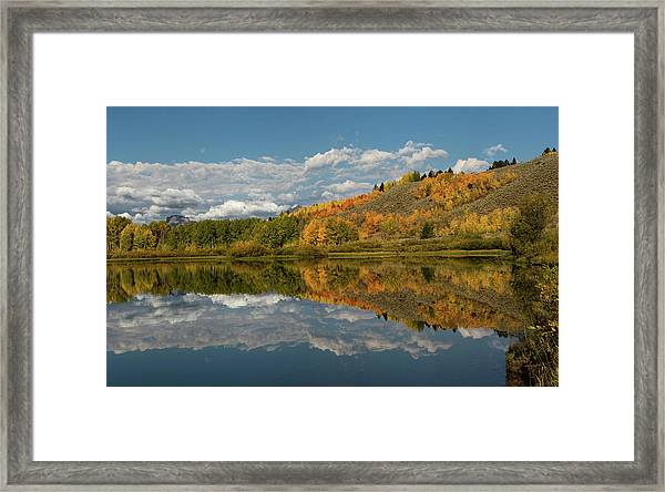 Color At Oxbow Bend Framed Print