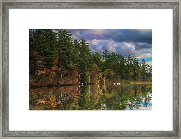 Color At Songo Pond Framed Print