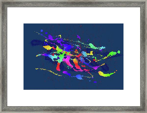 Color Chaos Framed Print
