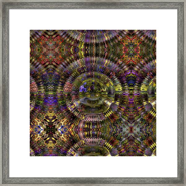 Framed Print featuring the digital art Color Chaos by Visual Artist Frank Bonilla