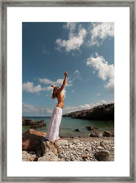 Color Nude 018 Framed Print