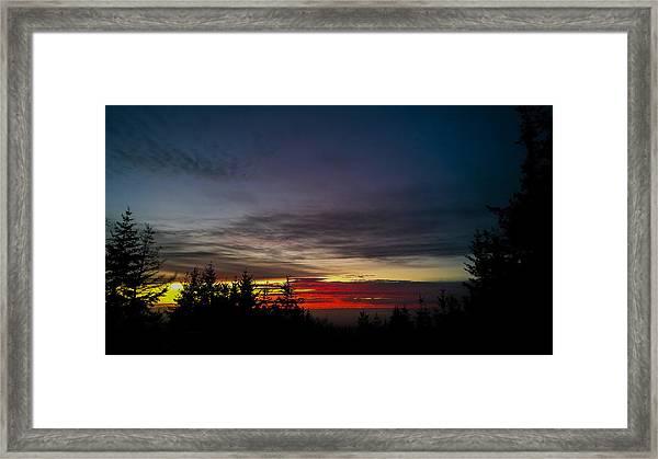 Color Of Dusk Framed Print