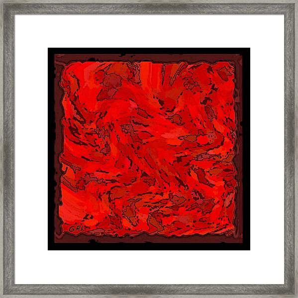 Framed Print featuring the painting Color Of Red Vi I Contemporary Digital Art by G Linsenmayer