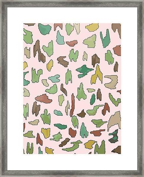 Color Pattern 3 Framed Print