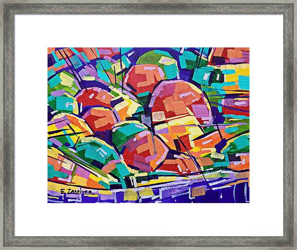 Color Salad Framed Print