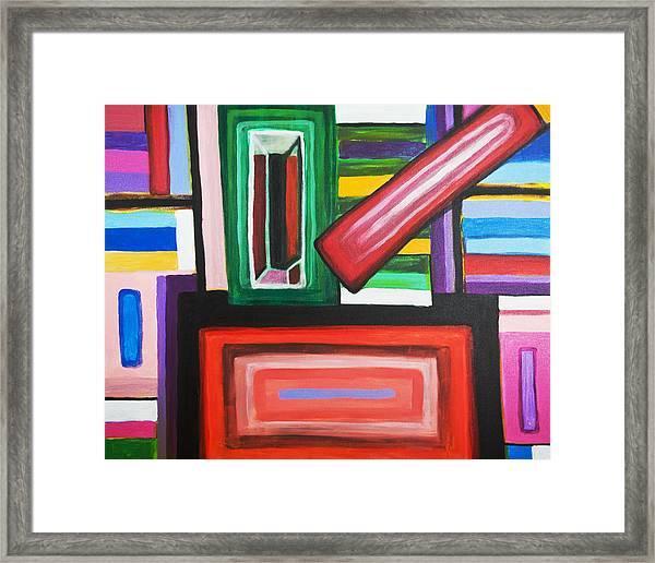 Color Squares Framed Print