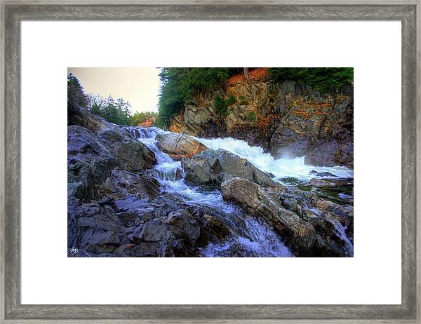 Color Steps At Livermore Falls Framed Print