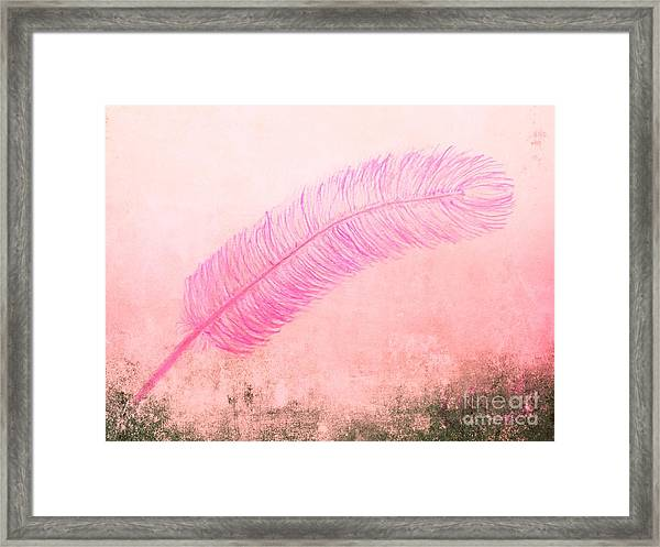 Color Trend Feather In The Wind Framed Print