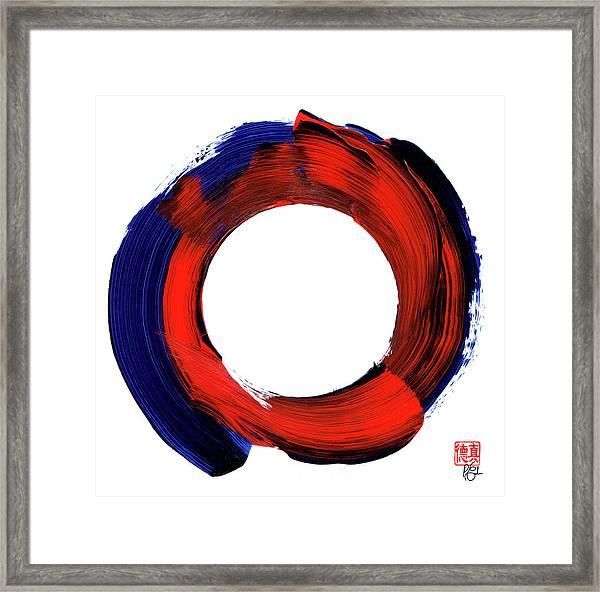 Color Zen Circle Framed Print