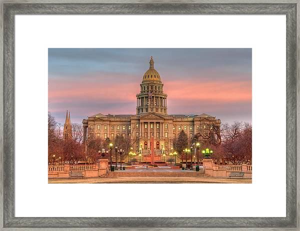 Colorado Capital Framed Print