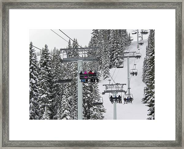 Colorado Chair Lift During Winter Framed Print