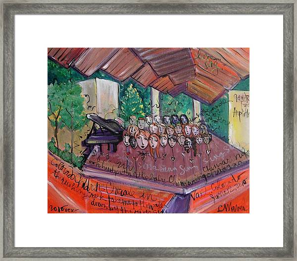 Framed Print featuring the painting Colorado Childrens Chorale by Laurie Maves ART