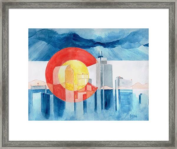Colorado Flag Framed Print