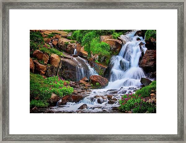 Colorado Mountain Stream, Indian Peaks Wilderness Framed Print