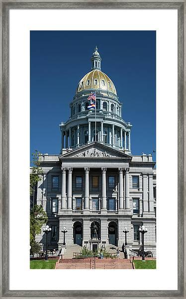 Colorado State Capitol Framed Print