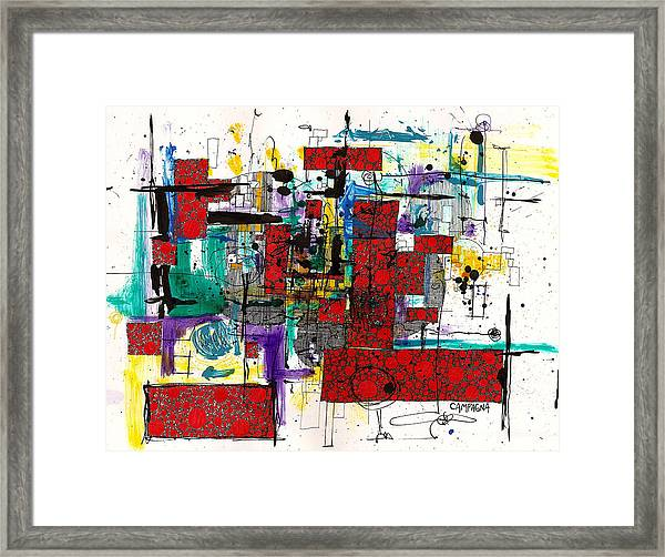 Colored Chaos Framed Print