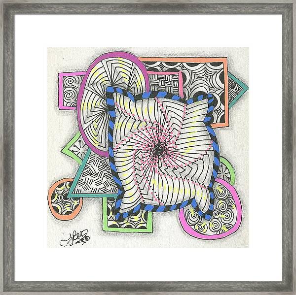 Colored Frames Framed Print