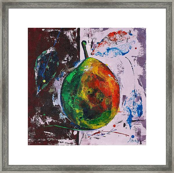 Colored Juicy Fruit Framed Print
