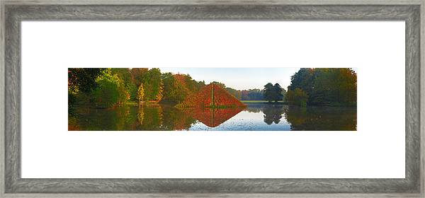 Colored Lake Pyramid Framed Print