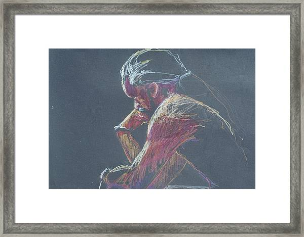 Colored Pencil Sketch Framed Print