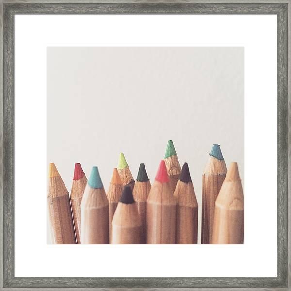 Colored Pencils Framed Print