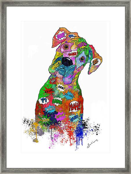 The Head Tilt. Need I Say More? Framed Print