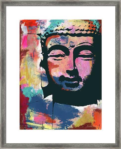 Colorful Buddha 2- Art By Linda Woods Framed Print