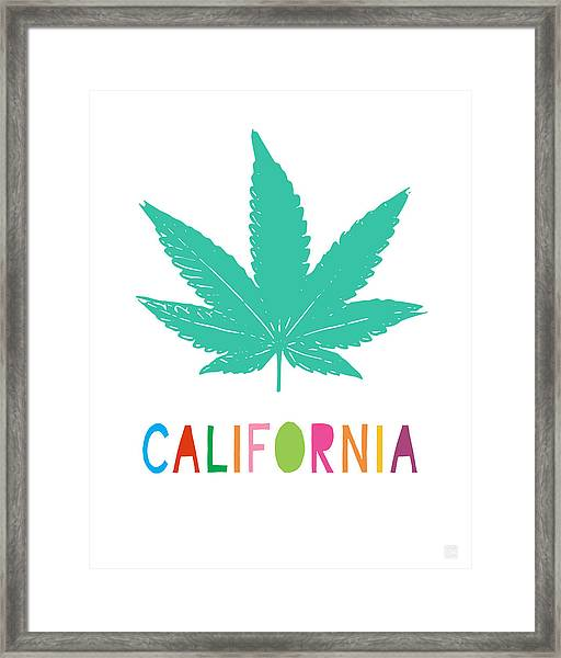 Colorful California Cannabis- Art By Linda Woods Framed Print