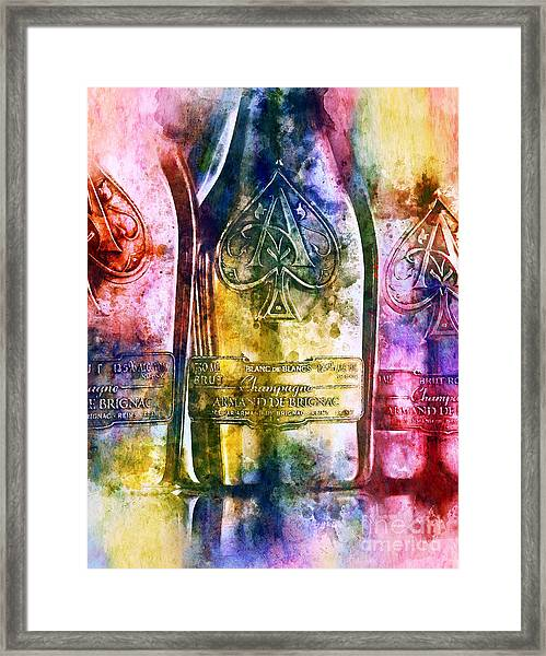 Colorful Champagne Framed Print