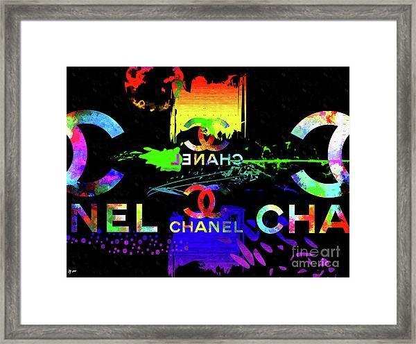 Colorful Chanel Art Framed Print