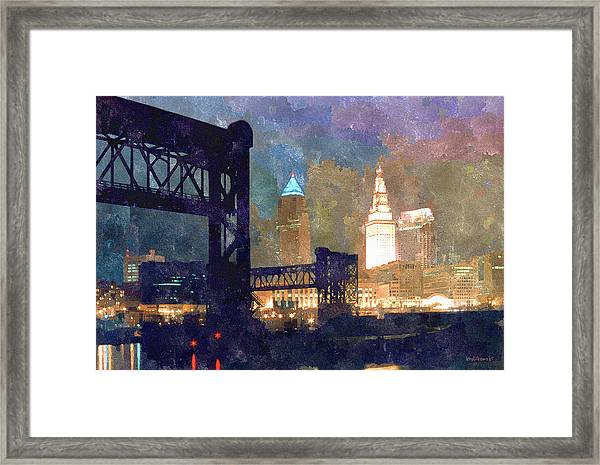 Colorful Cleveland Framed Print