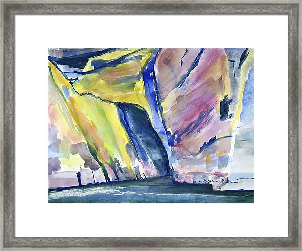 Colorful Cliffs And Cave Framed Print