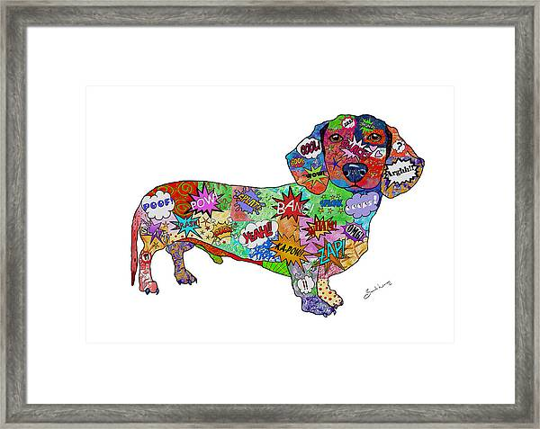 Who You Callin' A Wiener Framed Print
