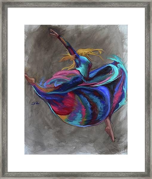 Colorful Dancer Framed Print