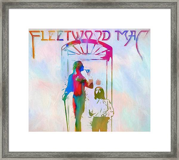 Colorful Fleetwood Mac Cover Framed Print