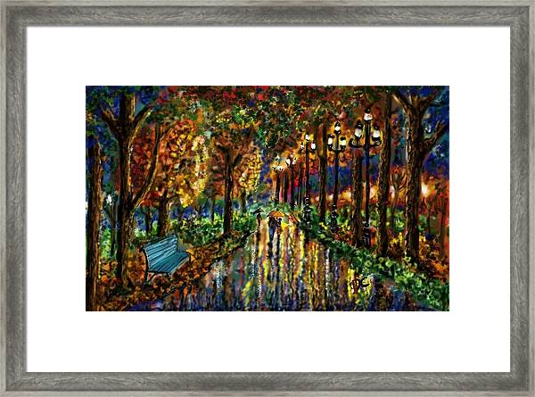 Colorful Forest Framed Print